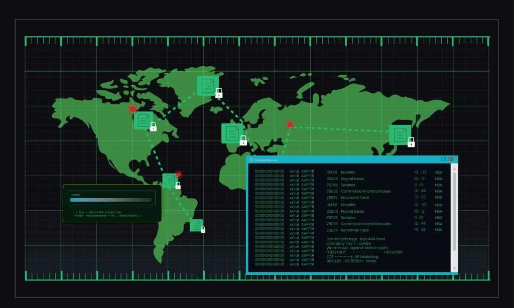 Une attaque DDoS vient d'un réseau d'ordinateurs